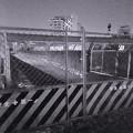 Photos: 桃花台線撤去工事:旧車両基地進入路を車両搬入口に変更? - 3(モノクロ)