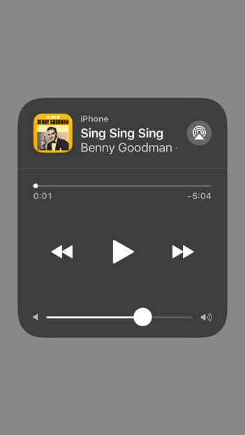 iOS 11:リニューアルされカスタム可能となったコントロールセンター - 6(ミュージック)
