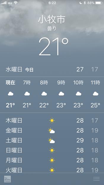 iOS 11:プチリニューアルした天気アプリ - 1