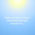 Photos: 空間に文字を浮かび上がらせる事ができるARアプリ「Wordup」 - 9(起動直後に表示される照明具合をチェック中(?)の画面)