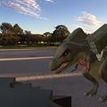 Photos: 3Dモデル共有サービス「Sketchfab」公式アプリ - 53:3DモデルをAR!(ロケットランチャーを装備したティラノサウルス)