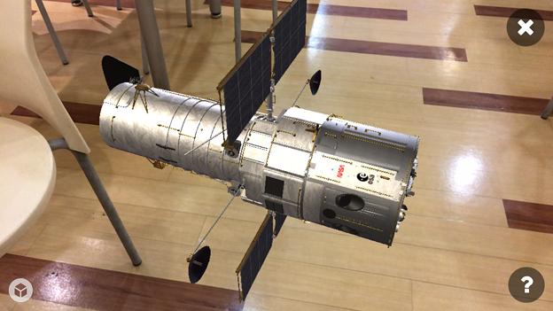 3Dモデル共有サービス「Sketchfab」公式アプリ - 109:3DモデルをAR!(ハッブル宇宙望遠鏡)
