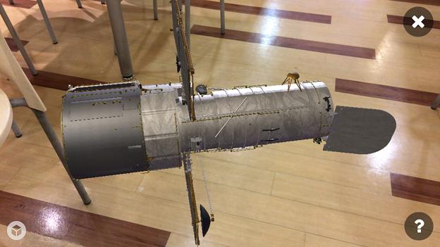 3Dモデル共有サービス「Sketchfab」公式アプリ - 111:3DモデルをAR!(ハッブル宇宙望遠鏡)
