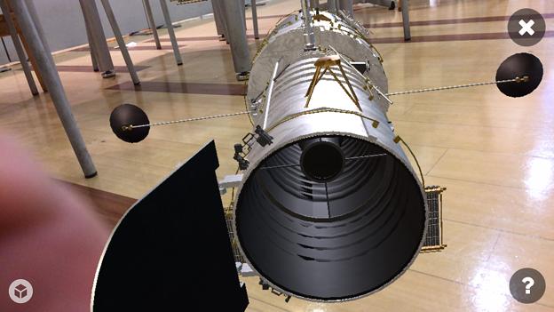 3Dモデル共有サービス「Sketchfab」公式アプリ - 118:3DモデルをAR!(ハッブル宇宙望遠鏡)