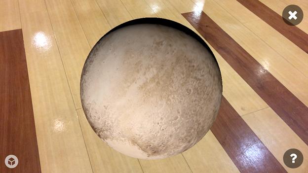 3Dモデル共有サービス「Sketchfab」公式アプリ - 129:3DモデルをAR!(冥王星)