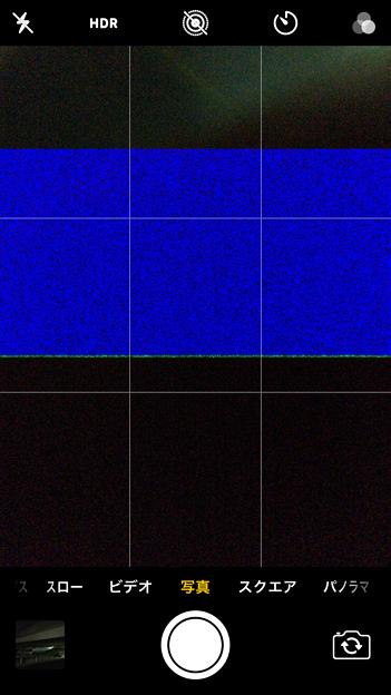 カメラアプリのセンサーの故障?iOS 11の不具合?カメラアプリに青い砂嵐が!?