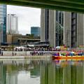 運航開始前日、試験運航中の中川運河水上バス「クルーズ名古屋」 - 15