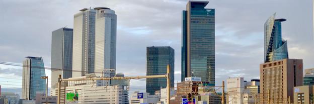 Twitterヘッダー画像:グローバルゲートから見た名駅ビル群 - 2