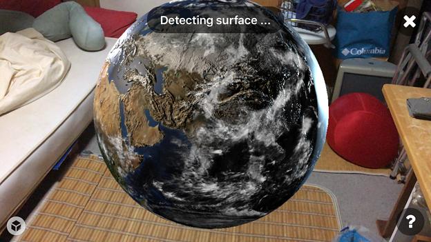 Sketchfabで地球を表示 - 3(AR)