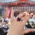 大須大道町人祭 2017 No - 33:今年も大勢の人が見に来ていた、大光院の大駱駝艦の金粉ショー.