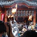 大須大道町人祭 2017 No - 34:今年も大勢の人が見に来ていた、大光院の大駱駝艦の金粉ショー.