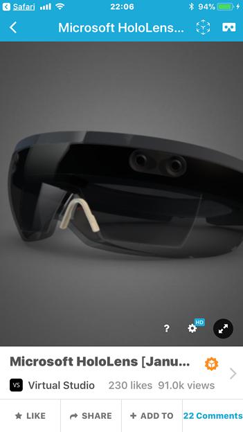 Sketchfab:HoloLensの3Dモデル - 2