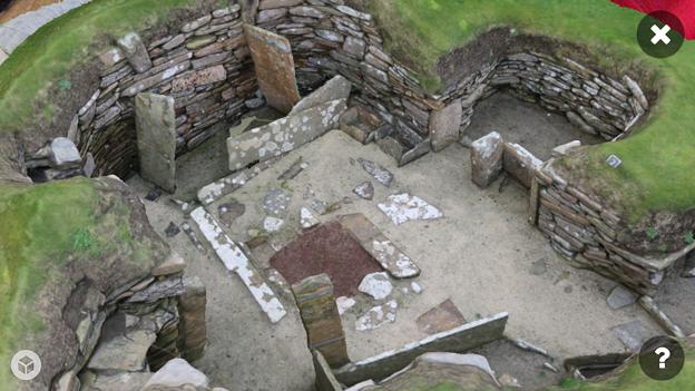 スコットランドの集落遺跡「スカラ・ブレイ(その2)」 No - 5:ARで表示