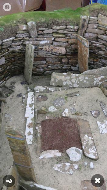 スコットランドの集落遺跡「スカラ・ブレイ(その2)」 No - 6:ARで表示