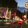 写真: 広小路通の夜のイルミネーションがスタート!