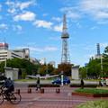 秋の名古屋テレビ塔周辺