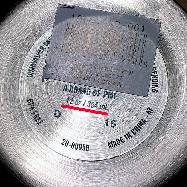 容量表記には「354ml」となってたけど、400ml入ったStanleyのマグカップ - 2