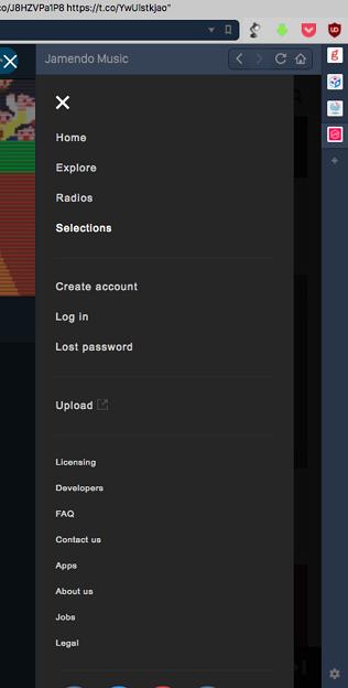 Vivaldi WEBパネルでの使用にピッタリなストリーミングアプリ「Jamendo Music」- 4