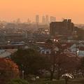 写真: 落合公園 水の塔から見た、夕暮れ時の名駅ビル群 - 3