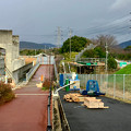 桃花台線の歩道上高架撤去工事(2017年11月19日) - 1
