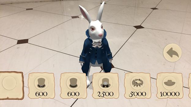 『不思議の国のアリス』を題材にしたミニゲームアプリ「Alice in Wonderland AR quest」2.1 No - 4:ウサギに付けるアクセサリー