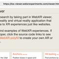 写真: MozillaのVR・ARアプリ「WebXR Viewer」 - 1:ホーム画面
