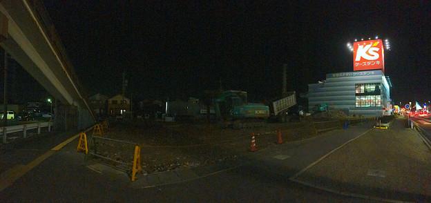国道19号沿いのガソリンスタンドがあった場所が更地に