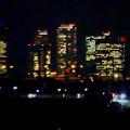 八田川沿いから見た夜の名駅ビル群 - 3