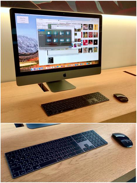 Appleストア名古屋栄に展示されてた「iMac Pro」 - 8:黒いMagic KeyboardとMagic Mouse