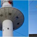 写真: 名古屋市北消防署のUFOみたいに見える通信塔 - 14