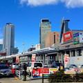 写真: 名駅ビル群をバックに走る新幹線(2013年撮影)- 1