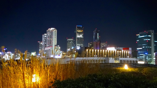 写真: グローバルゲート最上階から撮影した夜の名駅ビル群 - 1