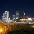 グローバルゲート最上階から撮影した夜の名駅ビル群 - 1