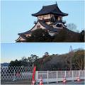 写真: 夕暮れ時の犬山城 - 1