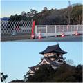 写真: 夕暮れ時の犬山城 - 2
