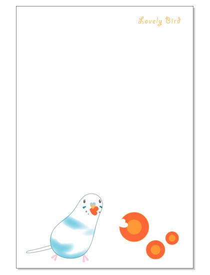 109ポストカード/にんじん/セキセイ・パイドブルー