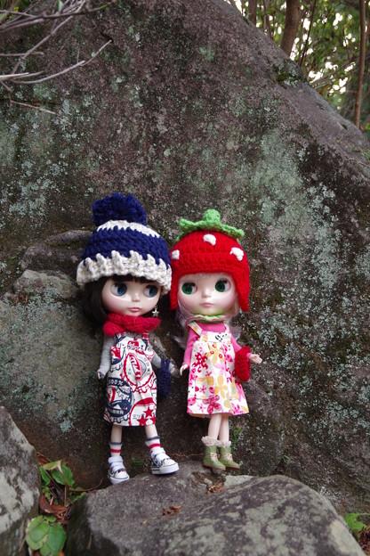 イチゴ帽子作ってみました(^_-)-☆