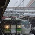 越後湯沢駅にて