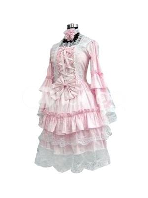 ピンク ロリータ コスプレ衣装