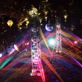 写真: 虹色の光のオブジェ@江ノ島 #湘南 #藤沢 #江ノ島 #mysky #バレンタイン #イルミネーション #夜景