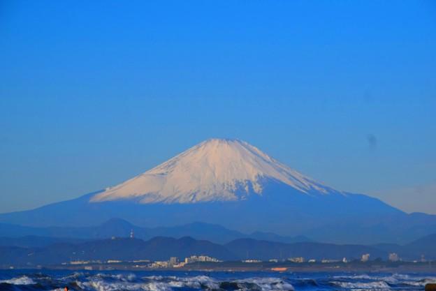湘南・鵠沼海岸からの富士山 #湘南 #藤沢 #海 #波 #wave #surfing #fujisan #mtfuji #富士山