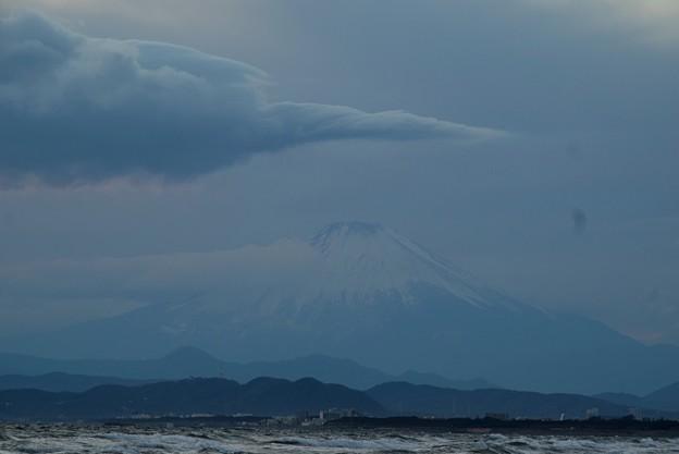 曇り空でも見える富士山 #湘南 #藤沢 #海 #波 #wave #surfing #mysky #fujisan #mtfuji #富士山