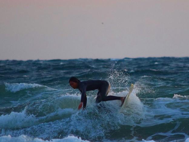 強いオンショアの湘南・鵠沼海岸 #湘南 #藤沢 #海 #波 #wave #surfing #mysky