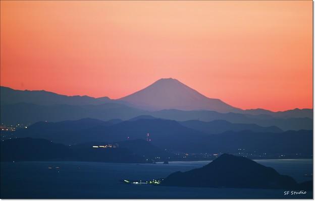 """写真: 遠望 """"富士の夜明け"""""""