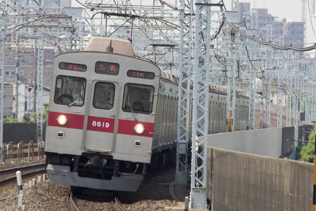 東急8500系 8619F [東武 谷塚駅]