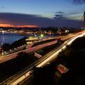 Photos: 夕暮れの関門橋