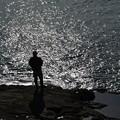 写真: 光る海