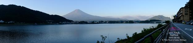 富士山與湖