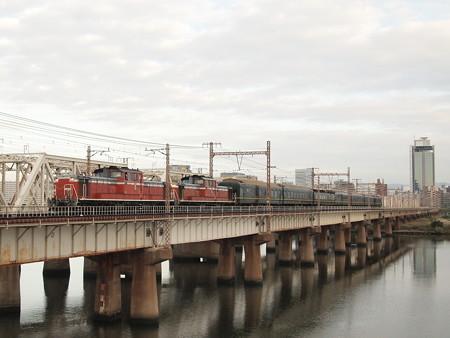 DD51 トワイライトエクスプレス東海道本線新大阪~大阪01