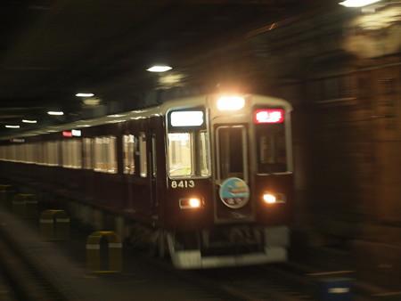 阪急8300系直通特急回送 堺筋線日本橋駅